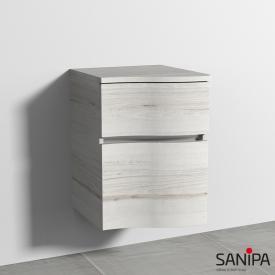 Sanipa CantoBay Anbauschrank geschwungen mit 2 Auszügen Front linde hell / Korpus linde hell