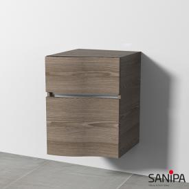 Sanipa CantoBay Anbauschrank geschwungen mit 2 Auszügen Front pinie grau / Korpus pinie grau