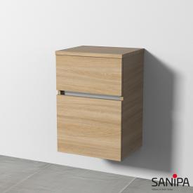 Sanipa CantoBay Seitenschrank mit 2 Auszügen Front ulme impresso / Korpus ulme impresso