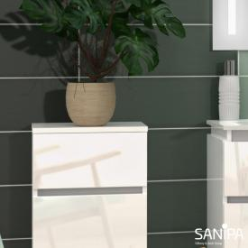 Sanipa CurveBay Abdeckplatte für Seitenschrank weiß glanz