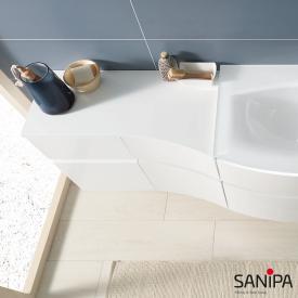Sanipa CurveBay Abdedeckplatte groß für Anbauschrank geschwungen weiß glanz
