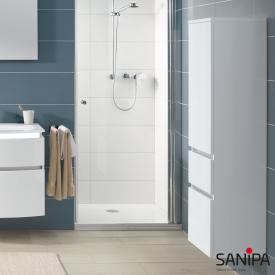 Sanipa CurveBay Mittelschrank mit 1 Tür und 2 Auszügen Front weiß glanz / Korpus weiß glanz
