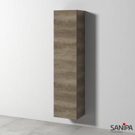 Sanipa Solo One Euphoria/Harmonia Hochschrank mit 1 Tür Front eiche nebraska / Korpus eiche nebraska