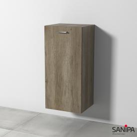 Sanipa Solo One Round Mittelschrank mit 1 Tür Front eiche nebraska / Korpus eiche nebraska