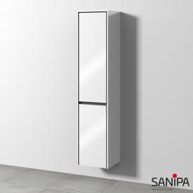 Sanipa TwigaGlas Hochschrank mit 2 Türen Front weiß glanz / Korpus weiß glanz