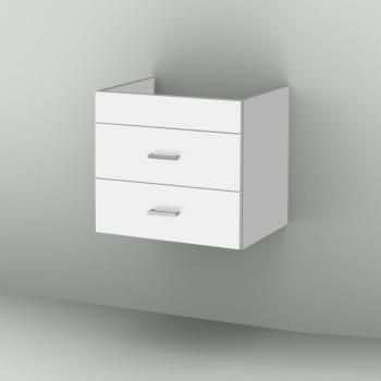 Sanipa 2morrow Waschtischunterschrank normal mit 2 Auszügen für Venticello Front weiß soft/ Korpus weiß soft