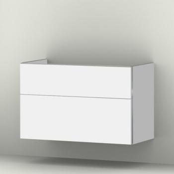 Sanipa 3way Waschtischunterschrank mit 2 Auszügen für ME by Starck Front weiß soft/ Korpus weiß soft