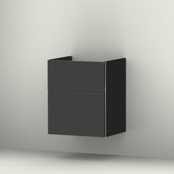 Sanipa 3way Waschtischunterschrank mit 2 Auszügen für Renova Plan Front anthrazit matt/ Korpus anthrazit matt