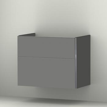 Sanipa 3way Waschtischunterschrank mit 2 Auszügen für Omnia Architectura Front steingrau/ Korpus steingrau