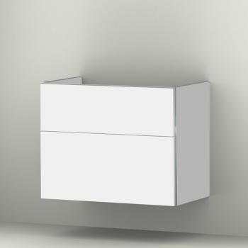 Sanipa 3way Waschtischunterschrank mit 2 Auszügen für Tonic II Front weiß soft/ Korpus weiß soft