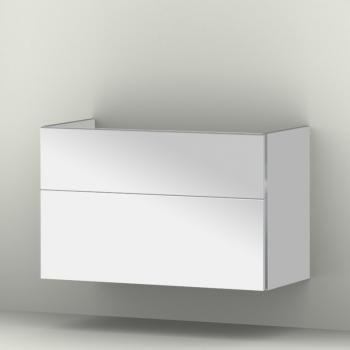 Sanipa 3way Waschtischunterschrank mit 2 Auszügen für Tonic II Front weiß glanz/ Korpus weiß glanz
