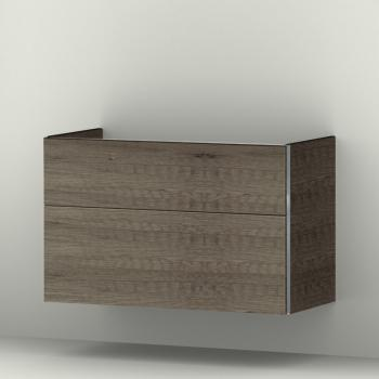 Sanipa 3way Waschtischunterschrank mit 2 Auszügen für Softmood Front eiche nebraska/ Korpus eiche nebraska