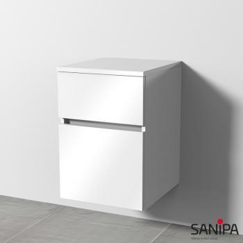 Sanipa CantoBay Anbauschrank mit 2 Auszügen Front weiß glanz / Korpus weiß glanz