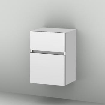 Sanipa CantoBay Seitenschrank mit 2 Auszügen Front weiß glanz/ Korpus weiß glanz