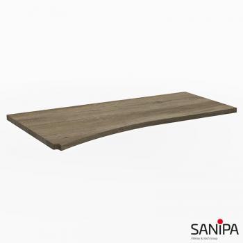 Sanipa CurveBay Abdedeckplatte groß für Anbauschrank geschwungen eiche nebraska