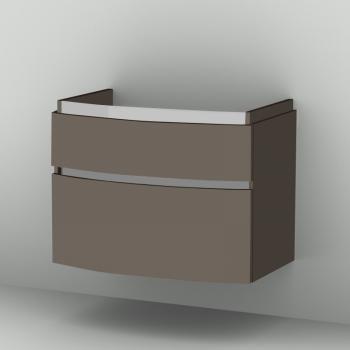 Sanipa CurveBay Waschtischunterschrank mit 2 Auszügen Front terra matt/ Korpus terra matt