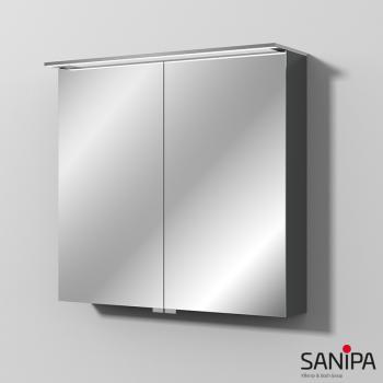 Sanipa Reflection Spiegelschrank mit LED-Beleuchtung anthrazit matt