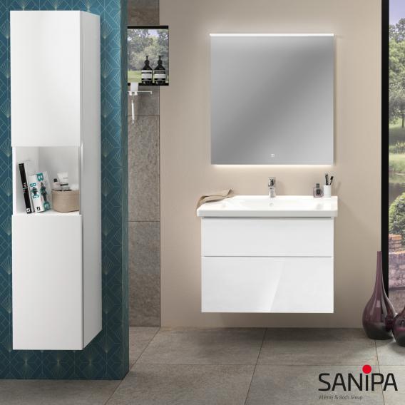 Sanipa 3way Waschtischunterschrank mit 2 Auszügen für P3 Comforts Front linde hell/ Korpus linde hell