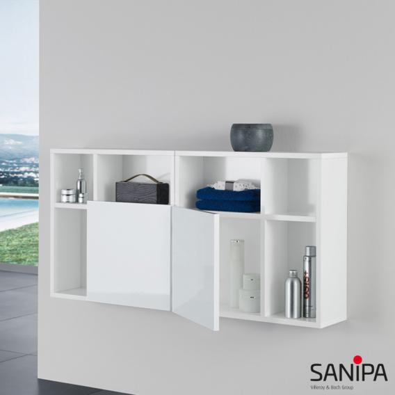 Sanipa 3way Würfelschrank umkehrbar Front weiß glanz / Korpus weiß glanz