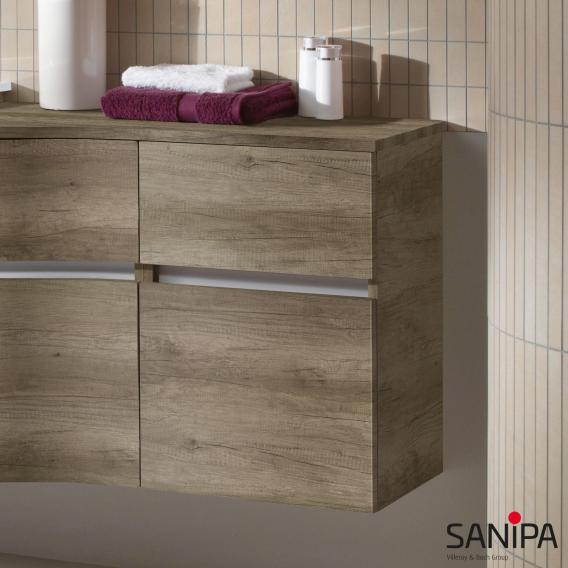 Sanipa CantoBay Seitenschrank mit 2 Auszügen Front weiß glanz / Korpus weiß glanz