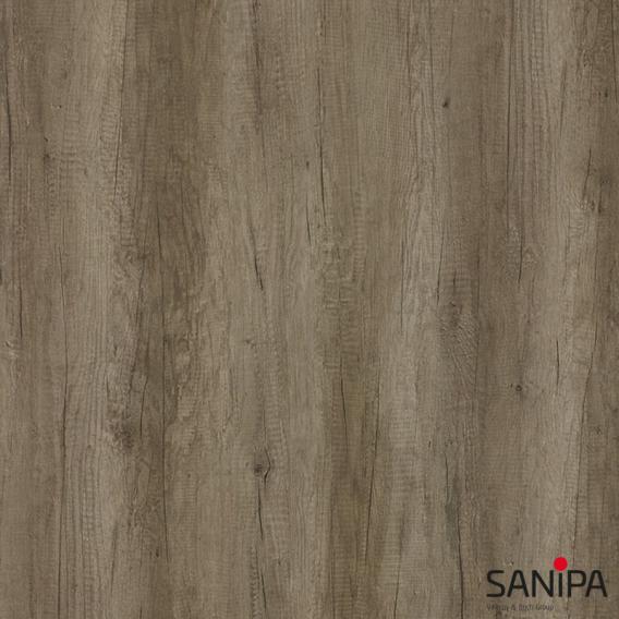 Sanipa CurveBay Seitenschrank mit 2 Auszügen Front eiche nebraska / Korpus eiche nebraska
