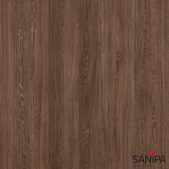 Sanipa TwigaGlas Hochschrank mit 2 Türen Front eiche santana / Korpus eiche santana