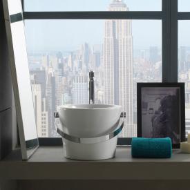 Scarabeo Bucket Aufsatzwaschbecken weiß, mit BIO System Beschichtung