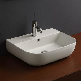 Scarabeo Glam Aufsatz- oder Hängewaschbecken weiß matt, mit BIO System Beschichtung