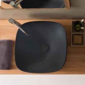 Scarabeo Moon Aufsatzwaschbecken schwarz matt, mit BIO System Beschichtung