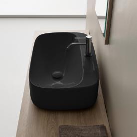 Scarabeo Moon Aufsatzwaschbecken schwarz, mit BIO System Beschichtung