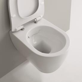 Scarabeo Moon Wand-Tiefspül-WC ohne Spülrand, weiß, mit BIO System Beschichtung