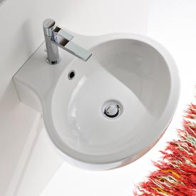Scarabeo Planet Aufsatz- oder Hängewaschbecken weiß, mit BIO System Beschichtung