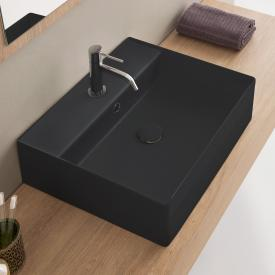 Scarabeo Teorema 2.0 Aufsatz- oder Hängewaschbecken schwarz matt, mit BIO System Beschichtung