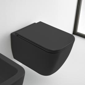 Scarabeo Teorema 2.0 Wand-Tiefspül-WC, ohne Spülrand schwarz matt, mit BIO System Beschichtung