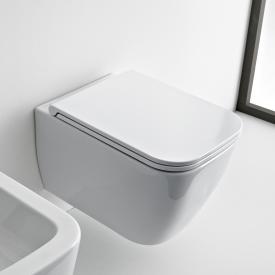 Scarabeo Teorema 2.0 Wand-Tiefspül-WC, ohne Spülrand weiß, mit BIO System Beschichtung