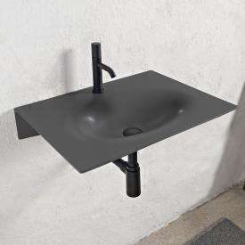 Scarabeo Veil Waschtisch schwarz matt, mit BIO System Beschichtung, ohne Handtuchhalter