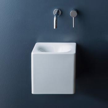 Scarabeo Cube Aufsatz- oder Hängewaschbecken weiß
