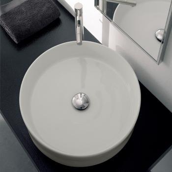 Scarabeo Geo Aufsatzwaschbecken weiß