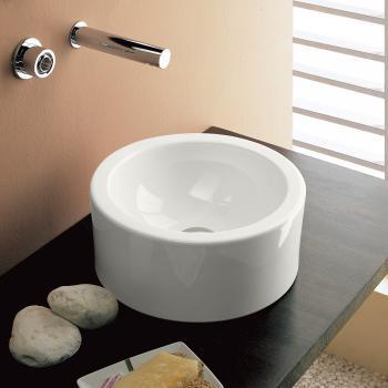 Scarabeo Giove Aufsatzwaschbecken weiß