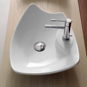 Scarabeo Kong R Aufsatzwaschbecken weiß