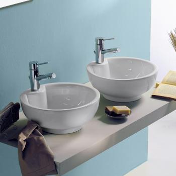 Scarabeo Luna Aufsatzwaschbecken weiß