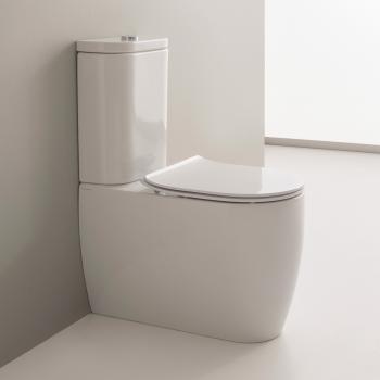 Scarabeo Moon Monoblock Stand-Tiefspül-WC weiß