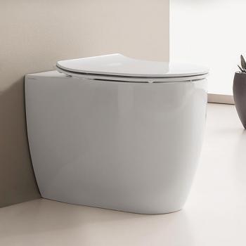 Scarabeo Moon Stand-Tiefspül-WC, ohne Spülrand weiß