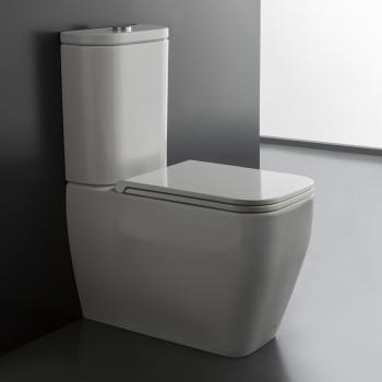 Scarabeo Next Monoblock Stand-Tiefspül-WC weiß
