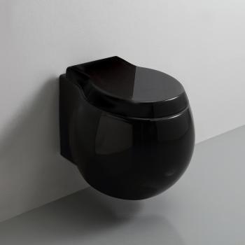 Scarabeo Planet Wand-Tiefspül-WC, ohne Spülrand schwarz