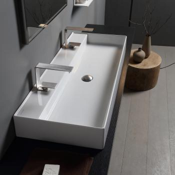 Scarabeo Teorema 2.0 Aufsatz- oder Hängewaschbecken weiß, mit BIO System