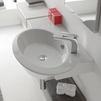 Scarabeo Wish Aufsatz- oder Hängehandwaschbecken weiß