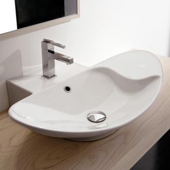 Scarabeo Zefiro R Shelf Aufsatz- oder Hängewaschbecken weiß