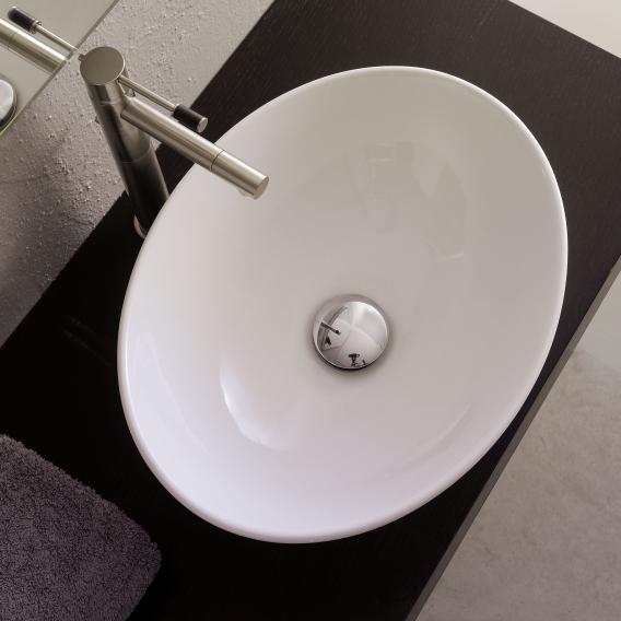 Scarabeo Ovo Aufsatzwaschbecken weiß, mit BIO System Beschichtung