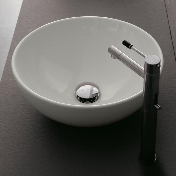 Scarabeo Sfera Aufsatzwaschbecken weiß, mit BIO System Beschichtung